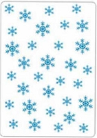 Crafts Too-Dutch Embossing Folder-Snowflakes  (A2 size)