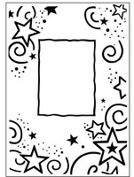 Crafts Too-Dutch Embossing Folder-Stars Frame (A2 size)