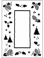 Crafts Too-Dutch Embossing Folder-Christmas Trees Frame (A2 size)