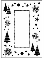 Crafts Too-Dutch Embossing Folder-Let it Snow Frame (A2 size)