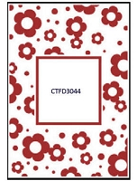 Crafts Too-Dutch Embossing Folder-Flowers Frame (A2 size)