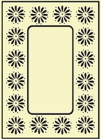 Crafts Too-Embossing Folder-Daisy Frame  (A2 size)