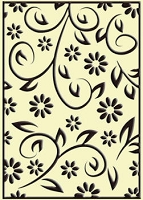 Crafts Too-Embossing Folder-Floral Summer  (A2 size)