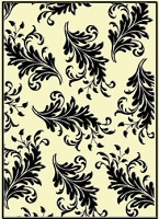 Crafts Too-Embossing Folder-Leaves  (A2 size)