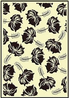 Crafts Too-Embossing Folder-Tropical Flowers  (A2 size)