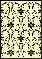 Crafts Too-Embossing Folder-Vintage Flowers  (A2 size)
