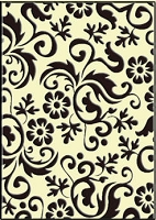 Crafts Too-Embossing Folder-Flower Flourish  (A2 size)