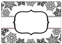 Crafts Too-Embossing Folder-Snowflake Banner (A2 size)