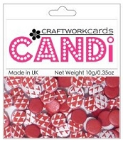 Candi Embellishments - Love Parade - Cherry Red