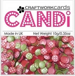 Candi Embellishments - Very Merry Silver