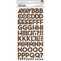 American Crafts - Acorn Avenue Collection - Thickers Chipboard Alphabet Stickers