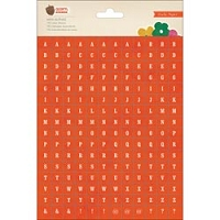 Crate Paper - Acorn Avenue Collection - Mini Alpha Stickers