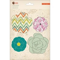 Crate Paper - Acorn Avenue Collection - Paper Flowers  4/Pkg