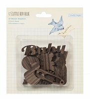 Crate Paper - Little Boy Blue - Wood Veneer Shapes