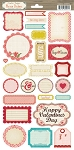 Crate Paper - Paper Hearts Phrase Stickers