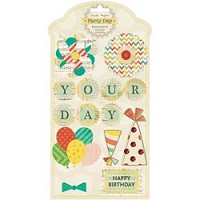 Crate paper - Party Day Collection - Layered Stickers - Standouts