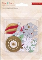 Crate paper - Sleigh Ride Collection - Chipboard Shapes