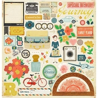 Crate Paper - Story Teller - Chipboard Accents Die Cuts 12