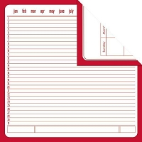 Creative Imaginations - Creative Cafe - 12X12 Double Sided Paper - Red Calendar