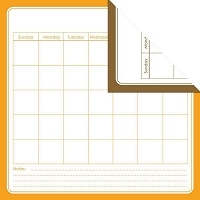Creative Imaginations - Creative Cafe - 12X12 Double Sided Paper - Orange Calendar