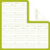 Creative Imaginations - Creative Cafe - 12X12 Double Sided Paper - Lime Calendar
