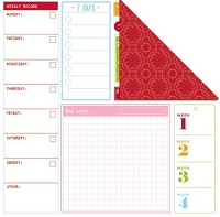 Creative Imaginations - Creative Cafe - 12X12 Double Sided Paper - Calendar Week