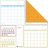 Creative Imaginations - Creative Cafe - 12X12 Double Sided Paper - Calendar Month