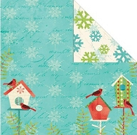 Creative Imaginations - Holiday Joy Collection - 12x12 Double Sided Paper - Holiday House
