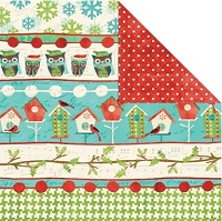 Creative Imaginations - Holiday Joy Collection - 12x12 Double Sided Paper - Joyful Stripe