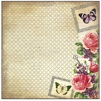 Creative Imaginations - Varnish Paper - Assemblage Collection - 12X12 Single Sided Sheet - Vintage Rose