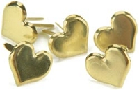 Creative Impressions-Brads-gold hearts 50/box