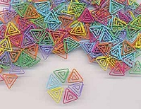 Creative Impressions - Painted Metal Triangle Paper Clips (25/pkg) - Tropical