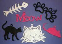 Creative Impressions Felt Die Cuts - Cat