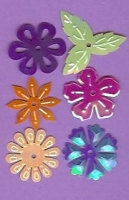 Creative Impressions Mylar Die Cuts - Medium Tropical Flowers/Leaves