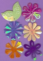Creative Impressions Mylar Die Cuts - Large Tropical Flowers/Leaves