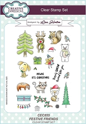 Creative Expressions - Clear Stamp - Festive Friends by Lisa Horton