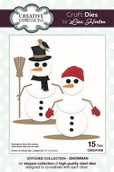 Creative Expressions - Die - Stitched Collection by Lisa Horton - Snowman