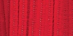 Darice-6mm Chenille Stems-Red