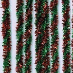 Darice-8mm Chenille Stems-Tinsel Twist Red/Green
