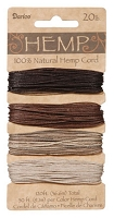 Darice-Hemp Cord-20# Earth - (30 feet each of 4 colors)