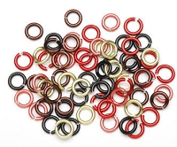 Darice-10mm Aluminum Jump Rings-Earthy