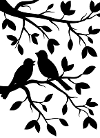 Darice Embossing Folder (Size A2) - Birds Branch
