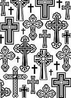 Darice Embossing Folder (Size A2) - Crosses