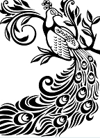 Darice Embossing Folder (Size A2) - Peacock