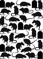 Darice Embossing Folder (Size A2) - Mice and Door