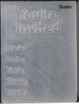 Darice Embossing Folder - You're Invited (Size A2)