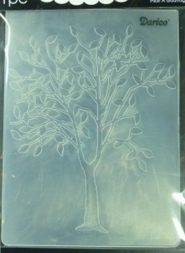 Darice Embossing Folder Tree With Leaves Size A2