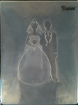 Darice Embossing Folder - Bride and Groom Silhouette (Size A2)