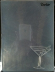 Darice Embossing Folder - Cocktail Glass (In Corner) (Size A2)
