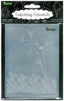 Darice Embossing Folder (Size A2) - Butterfly On Flower
